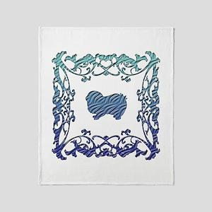 Japanese Chin Lattice Throw Blanket