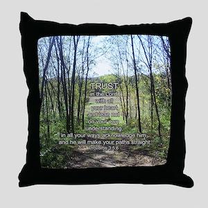 Trust (Proverbs 3:5,6) Throw Pillow