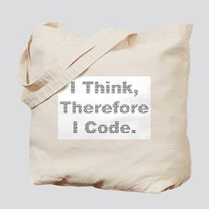 """Think --> Code"" Tote Bag"