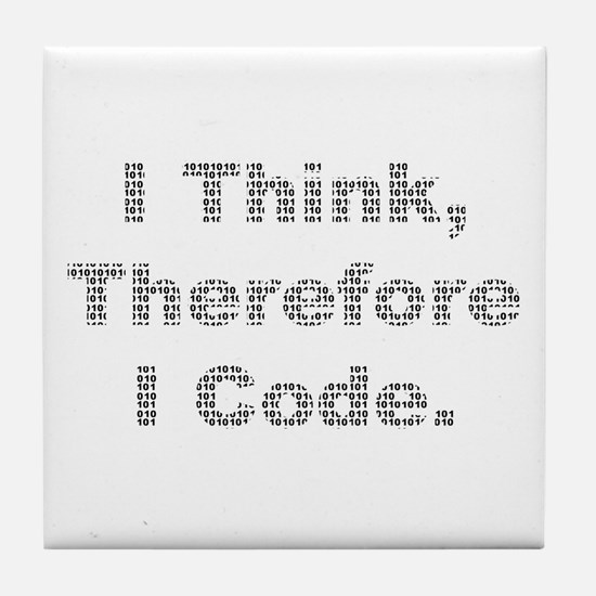 """Think --> Code"" Tile Coaster"