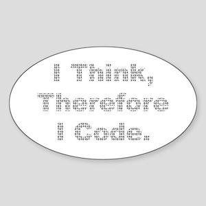 """Think --> Code"" Oval Sticker"