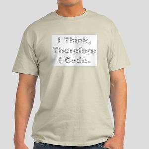 """""""Think --> Code"""" Ash Grey T-Shirt"""