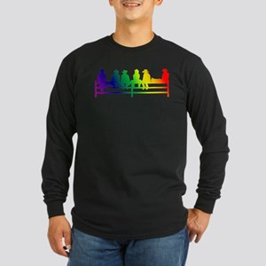Fence Sittin' Long Sleeve Dark T-Shirt