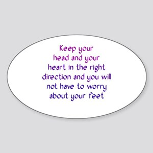 The Right Direction Sticker (Oval)