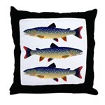Dolly Varden Trout Throw Pillow