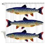 Dolly Varden Trout Shower Curtain
