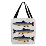 Dolly Varden Trout Polyester Tote Bag