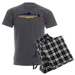 Dolly Varden Trout Men's Charcoal Pajamas
