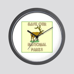 Save our National Parks Wall Clock