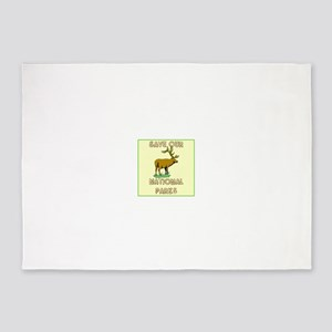 Save our National Parks 5'x7'Area Rug