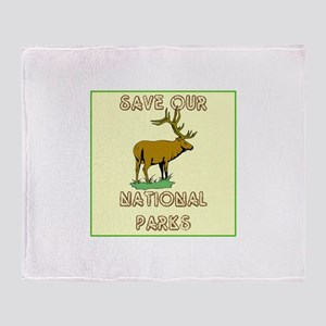 Save our National Parks Throw Blanket