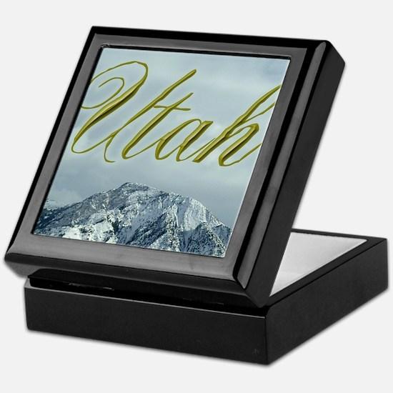 Utah Mountains Keepsake Box