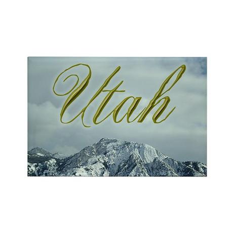 Utah Mountains Rectangle Magnet (10 pack)