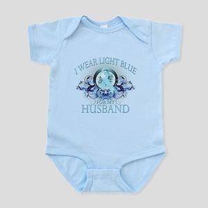 I Wear Light Blue for my Husband (floral) Infant B