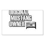 Mustang Owner Sticker (Rectangle 50 pk)