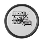 Mustang Owner Large Wall Clock