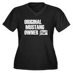 Mustang Owner Women's Plus Size V-Neck Dark T-Shir
