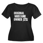 Mustang Owner Women's Plus Size Scoop Neck Dark T-
