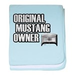 Mustang Owner baby blanket