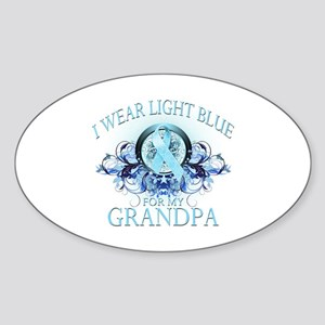 I Wear Light Blue for my Grandpa (floral) Sticker