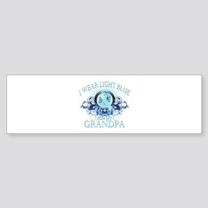 I Wear Light Blue for my Grandpa (floral) Sticker