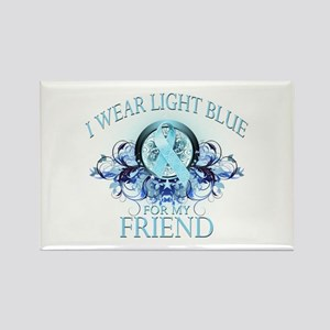 I Wear Light Blue for my Friend (floral) Rectangle