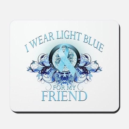 I Wear Light Blue for my Friend (floral) Mousepad