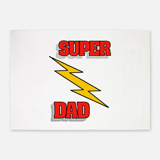 SUPER DAD 5'x7'Area Rug
