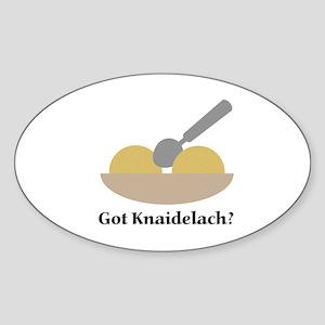 Got Knaidelach? Oval Sticker