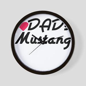 Dads Mustang Wall Clock
