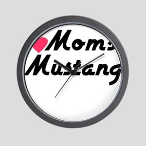 Love Moms Mustang Wall Clock