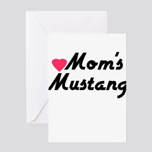 Love Moms Mustang Greeting Card