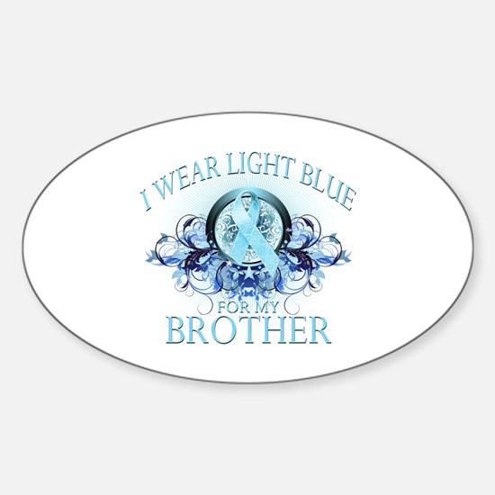 I Wear Light Blue for my Brother (floral) Decal