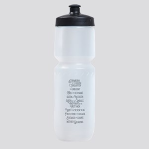 Game of Thrones Khaleesi Names Sports Bottle