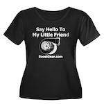 Little Friend - Women's Plus Size Scoop Neck Dark