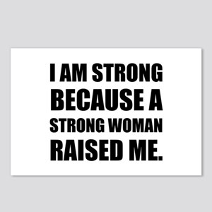 Strong Woman Raised Me Postcards (Package of 8)
