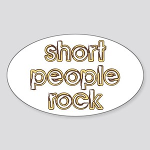 Short People Rock Oval Sticker