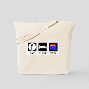 Eat Sleep Vote Conservative Tote Bag