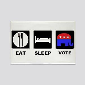 Eat Sleep Vote Conservative Rectangle Magnet