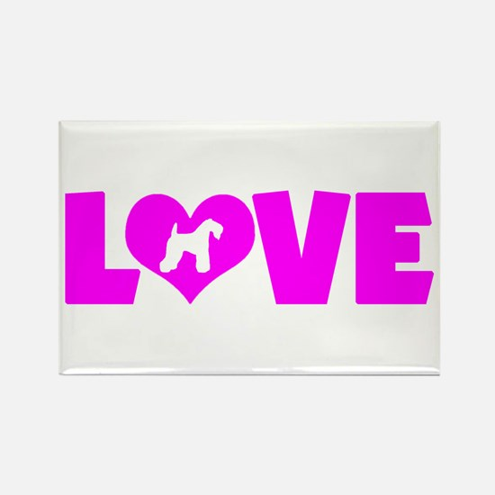 LOVE KERRY BLUE Rectangle Magnet