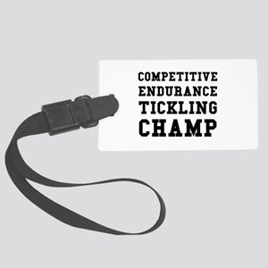 Competitive Endurance Tickling Champ Luggage Tag