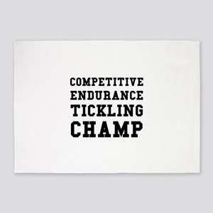 Competitive Endurance Tickling Champ 5'x7'Area Rug