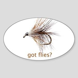 got flies? Sticker (Oval)
