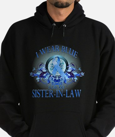 I Wear Blue for my Sister In Law (floral) Hoodie