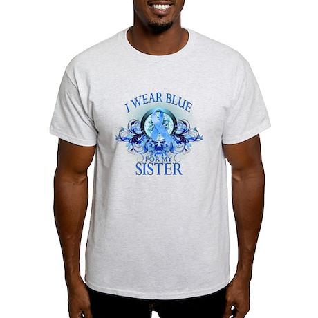 I Wear Blue for my Sister (floral) Light T-Shirt