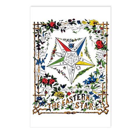Vintage Eastern Star Signet Postcards (Package of