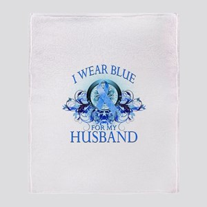 I Wear Blue for my Husband (floral) Stadium Blank