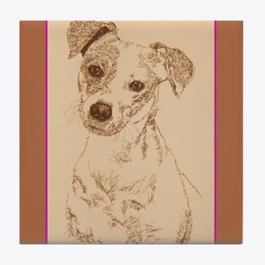 Jack Russell Terrier Smooth Tile Coaster