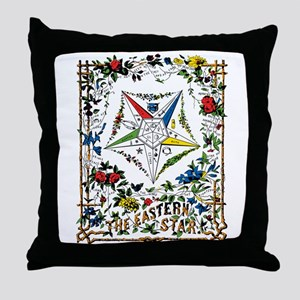 Vintage Eastern Star Signet Throw Pillow