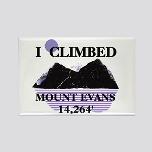 I Climbed MOUNT EVANS 14,264' Rectangle Magnet